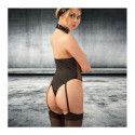 Vinyl Fishnet Open Cup Suspender Body