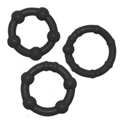 Get Hard Cock Rings - Black