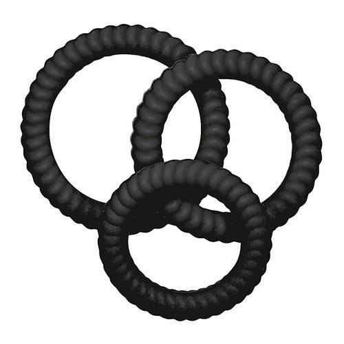 Lust 3 Cock Rings - Black