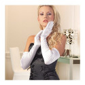 Opera Length Gloves - Veronica - White
