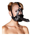 Leather Head Harness with Gag and Dildo