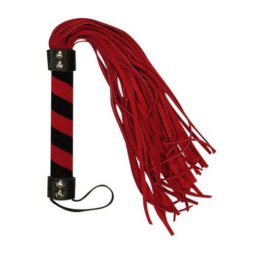 Bad Kitty - Red & Black Suede Flogger