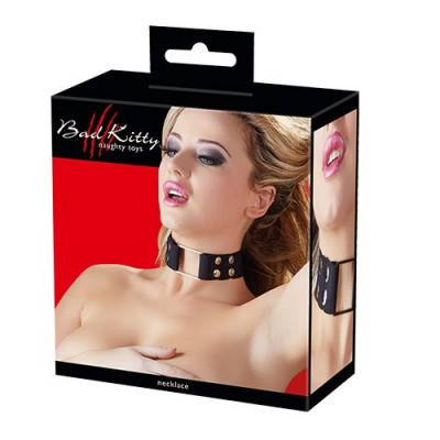 Bad Kitty - Black Collar with Press Studs (BK-7)
