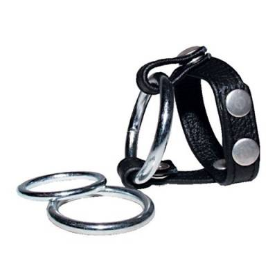 Leather Cock Ring Harness - Nick