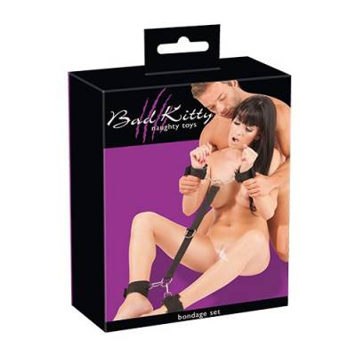 Bad Kitty - Black Velcro Wrist & Ankle Cuffs (BK-12)
