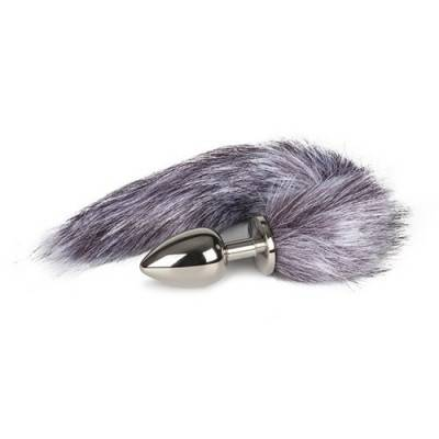 Fox Tail Plug - Silver - Large