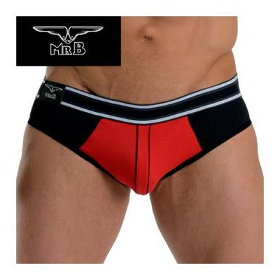 Mister B - Jockstrap Soho - Black & Red