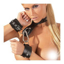 Leather Wrist Cuffs & Collar
