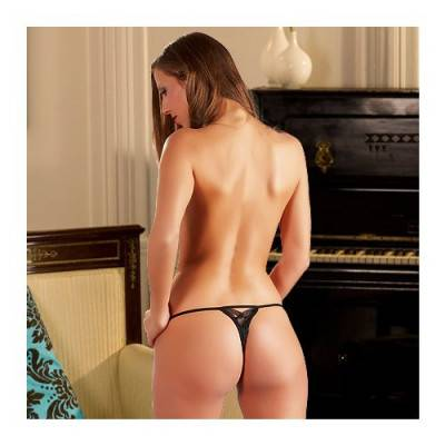 Crotchless String - Louise - Rose